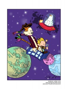 Bill Watterson/ Doctor Who Homage